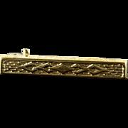 10K Fancy Engraved Bar Pin/Brooch Yellow Gold