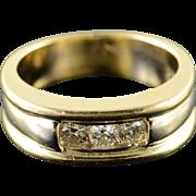 14K 0.50 CTW Round Diamond Men's Wedding Band Ring Size 10.75 Yellow Gold