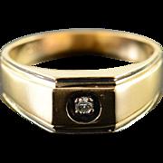 10K Genuine Diamond Men's Wedding Band Ring Size 9.75 Yellow Gold [QPQQ]