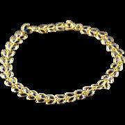 "18K 1.75 CTW Sapphire Leaf Bracelet 6.5"" Yellow Gold"