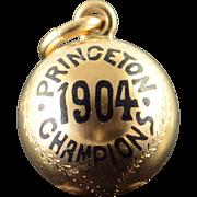 10K 1904 Princeton Champions Baseball Team James Robinson Charm/Pendant Yellow Gold