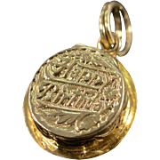 "14K Vintage 3D Hinged ""Happy Birthday"" Cake Charm/Pendant Yellow Gold"