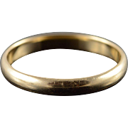 14K 3.2mm Wedding Band Ring Size 9.75 Yellow Gold