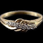 10K Vintage 0.03 CTW Diamond Wedding Band Ring Size 9.5 Yellow Gold
