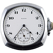Elgin 1922 46mm Case 7 Jewel 12s Grade 301 Pocket Watch [QPQQ]