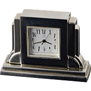 "Base Metal ""N"" Desk Clock"