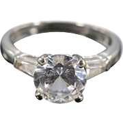 10K Cubic Zirconia Engagement Travel Ring Size 5.25 White Gold