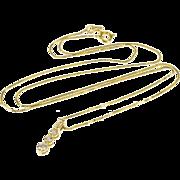 "14K 0.30 Ctw Diamond Three Tier Pendant Box Chain Necklace 18"" Yellow Gold"