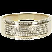 10K Diamond Encrusted Pave Men's Wedding Band Ring Size 13 White Gold