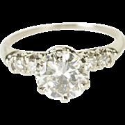 Platinum 1.96 Ctw Diamond Accent Stone Engagement Ring Size 7.75