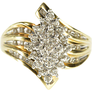 10K 0.50 Ctw Pointed Cluster Freeform Diamond Ring Size 10 Yellow Gold [QPQQ]