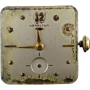 Vintage Hamilton Mechanical 22 Jewel Parts Wrist Watch Movement