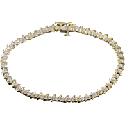 "10K 0.25 CTW Diamond Tennis Bracelet 7.25"" Yellow Gold"