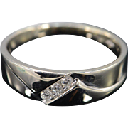 10K 0.10 Ctw G/SI-I Round Diamond Accent Wedding Band Ring Size 9.25 White Gold