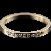 10K 0.10 CTW Diamond Inset Wedding Band Ring Size 6.75 Yellow Gold