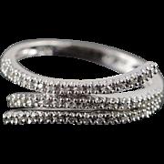 14K 0.25 CTW Diamond Bypass Ring Size 8 White Gold