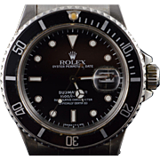 Stainless Rolex 40mm Submariner 1986 Black Dial Automatic Watch 16800