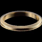 14K 2.5mm Squared Milgrain Wedding Band Ring Size 6 Yellow Gold
