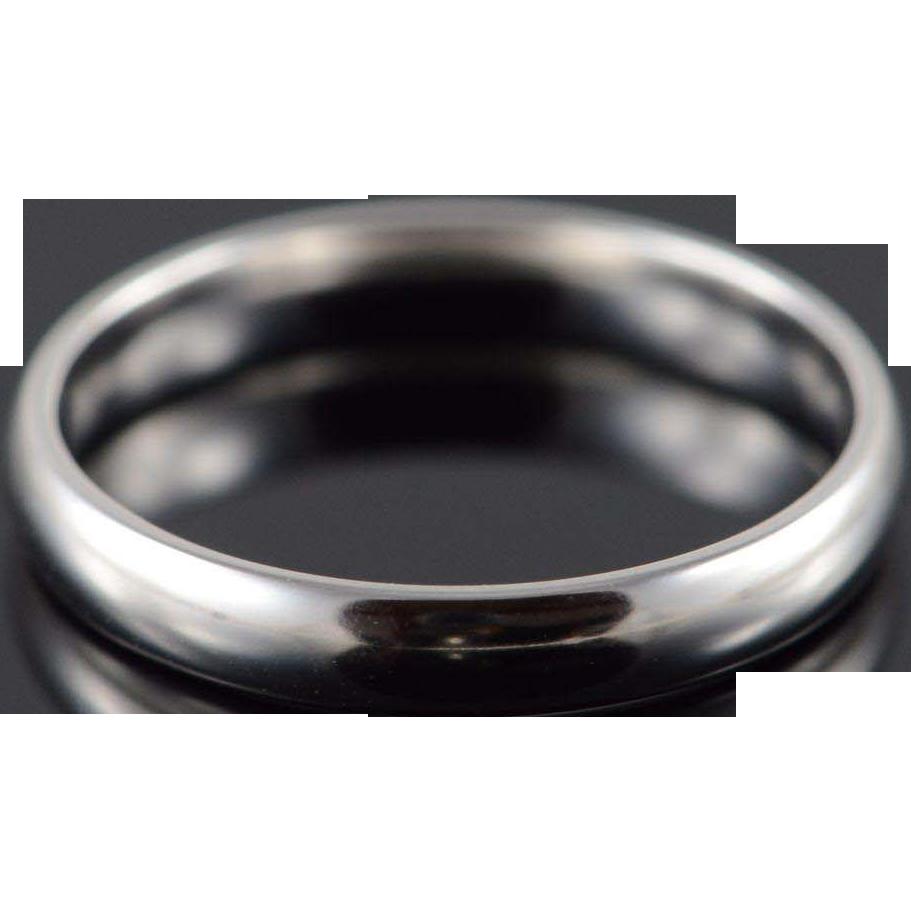 14k 3 1mm plain rounded wedding band ring size 7 white