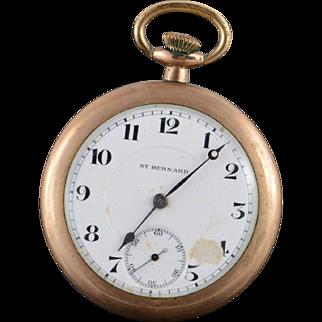 Vintage St. Bernard Swiss 48mm Pocket Watch