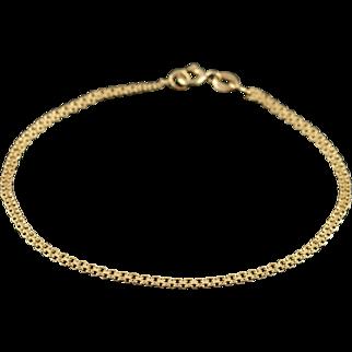 """18K 2.2mm Fancy Link Bracelet 7.4"""" Yellow Gold"""