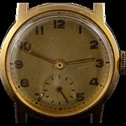 14K Vintage Bulova Mechanical 28mm Wrist Watch  Yellow Gold