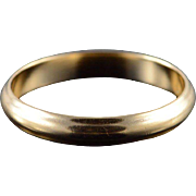14K 3.4mm Wedding Band Ring Size 8.5 Yellow Gold