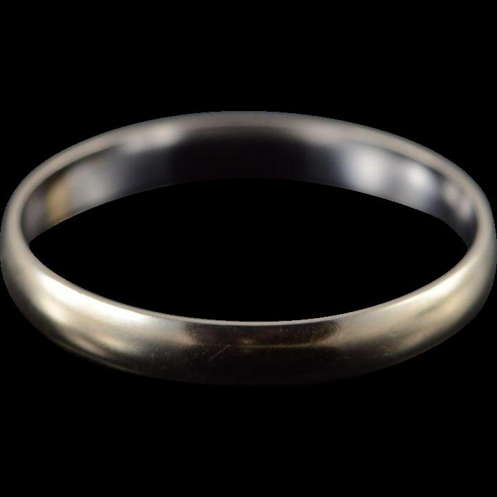 10k 3 1mm plain wedding band s ring size 12 white gold