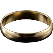 14K 4mm Classic Wedding Band Ring Size 8.5 Yellow Gold