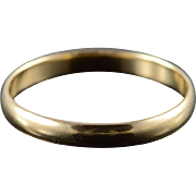 10K 2.9mm Wedding Band Ring Size 10 Yellow Gold