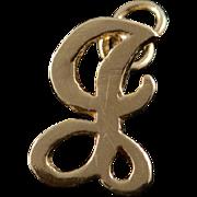 14K F L Monogram Letter Initial Charm/Pendant Yellow Gold