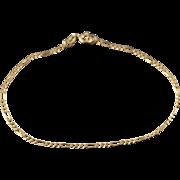 "10K 1.8mm Figaro Link Chain Bracelet 7"" Yellow Gold"