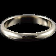 14K 3.6mm Wedding Band Ring Size 9.75 White Gold
