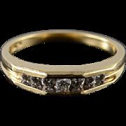 14K 0.20 CTW Diamond Inset Wedding Band Ring Size 6.75 Yellow Gold