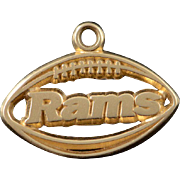 14K Ram's Football Team Cut Out Charm/Pendant Yellow Gold