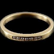 14K 0.10 CTW Diamond Inset Wedding Band Ring Size 6.75 Yellow Gold
