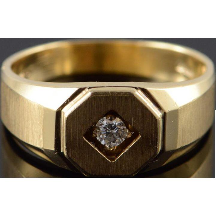 Ct Gold Diamond Inset Ring