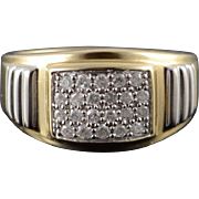 10K 0.50 CTW Diamond Cluster Men's Band Ring Size 11 Yellow Gold