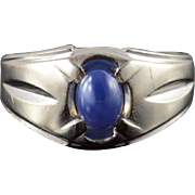 10K 0.75 CT Star Sapphire* Classic Ring Size 6.5 White Gold