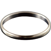 14K 2mm Classic Wedding Band Ring Size 8 White Gold