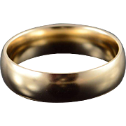 10K Heavy 6.2mm Rounded Plain Wedding Band Men's Ring Size 11 Yellow Gold