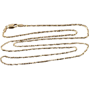 """14K 1.1mm Box Link Chain Necklace 20.75"""" Yellow Gold"""