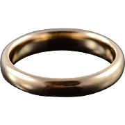 14K 3.6mm Rounded Wedding Band Ring Size 6 Yellow Gold