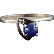 10K 0.51 CTW Star Sapphire Diamond Bypass Ring Size 5.75 White Gold