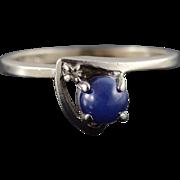 10K 0.51 CTW Star Sapphire Diamond Bypass Ring Size 5.75 White Gold