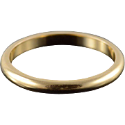14K 2mm Rounded Baby Children's Band Ring Size 4 Yellow Gold