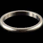 14K 2.1mm Rounded Wedding Band Ring Size 6 White Gold