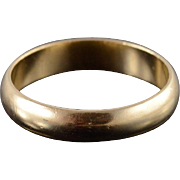 14K 3.9mm Simple Plain Classic Wedding Band Ring Size 6.75 Yellow Gold