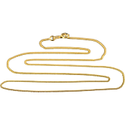 """14K 1.3mm Cable Link Chain Necklace 19.75"""" Yellow Gold"""