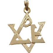 14K Jewish Star of David Charm/Pendant Yellow Gold